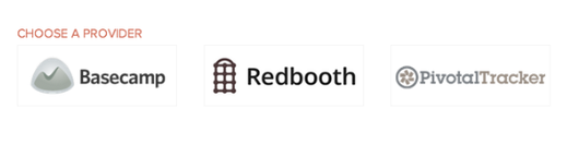 Updatey External Integrations Project Management Redbooth, Pivotal Tracker, Basecamp